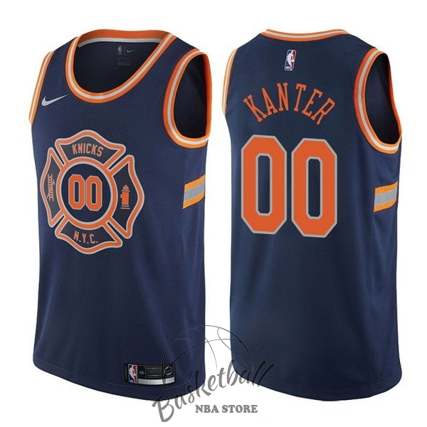 Choisir Maillot NBA Nike New York Knicks NO.0 Enes Kanter Nike Bleu Ville