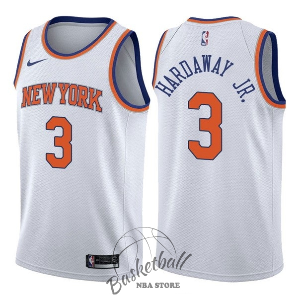 Choisir Maillot NBA Nike New York Knicks NO.3 Tim Hardaway Jr Blanc Association