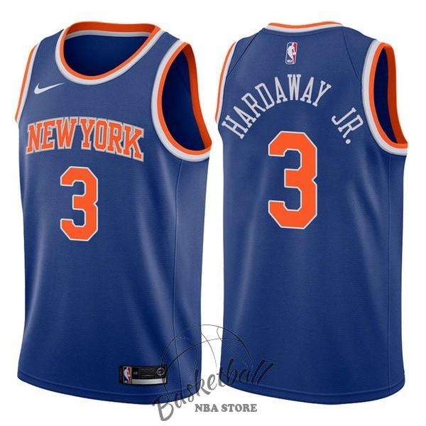 Choisir Maillot NBA Nike New York Knicks NO.3 Tim Hardaway Jr Bleu Icon