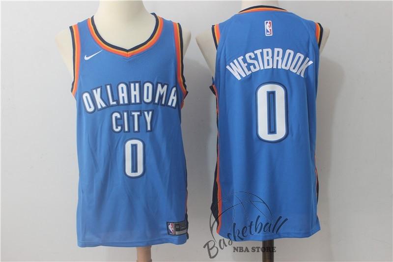 35219785319eb Choisir Maillot NBA Nike Oklahoma City Thunder NO.0 Russell Westbrook Bleu  Icon ...
