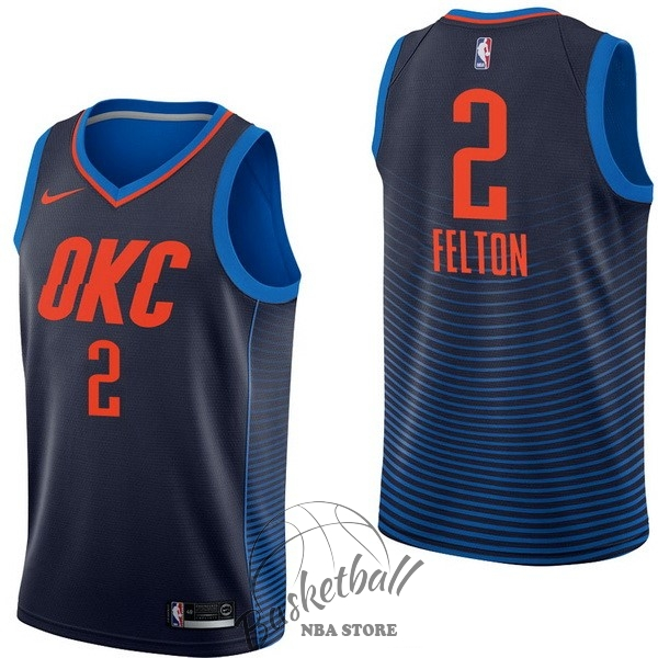 Choisir Maillot NBA Nike Oklahoma City Thunder NO.2 Raymond Felton Marine Statement