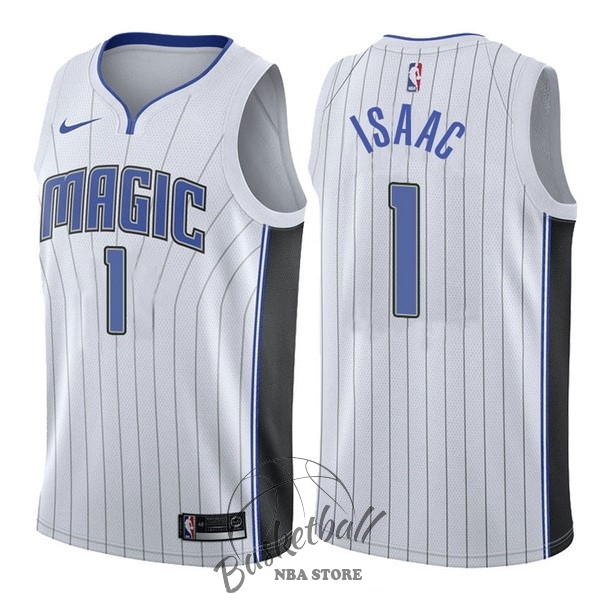 Choisir Maillot NBA Nike Orlando Magic NO.1 Jonathan Isaac Blanc Association