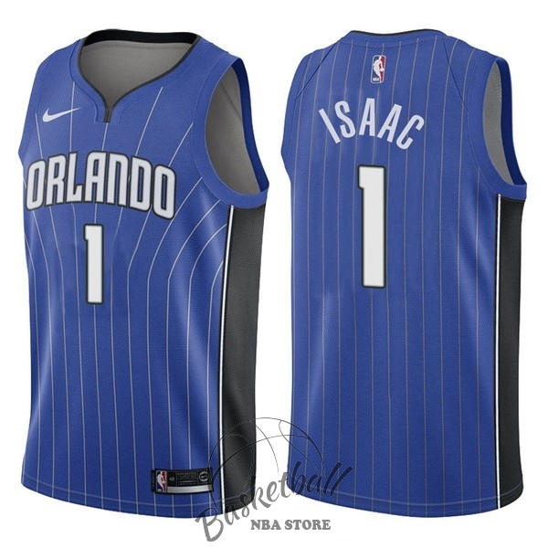 Choisir Maillot NBA Nike Orlando Magic NO.1 Jonathan Isaac Bleu Icon