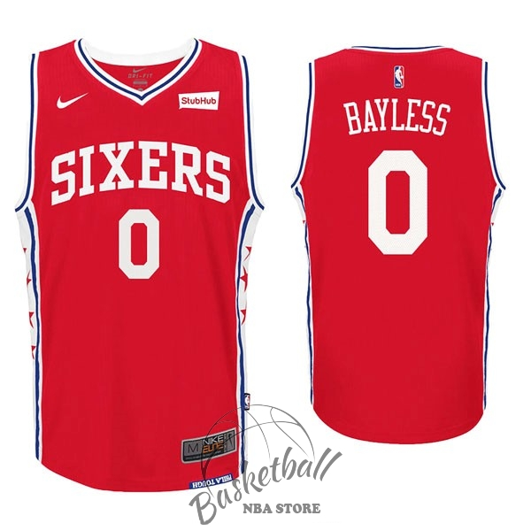 Choisir Maillot NBA Nike Philadelphia Sixers NO.0 Jerryd Bayless Rouge