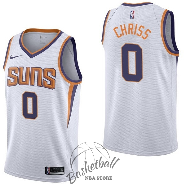 Choisir Maillot NBA Nike Phoenix Suns NO.0 Marquese Chriss Blanc Association