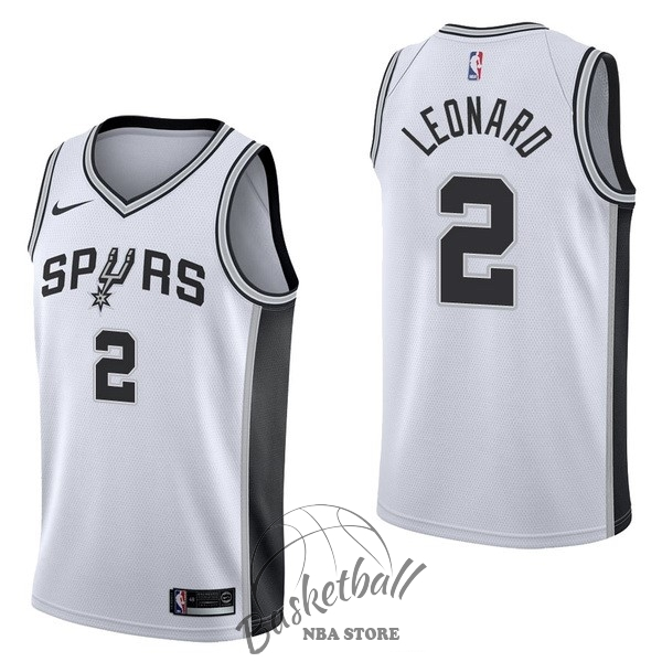 Choisir Maillot NBA Nike San Antonio Spurs NO.2 Kawhi Leonard Blanc Association