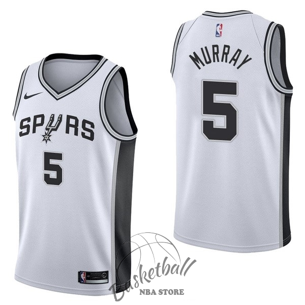 Choisir Maillot NBA Nike San Antonio Spurs NO.5 Dejounte Murray Blanc Association