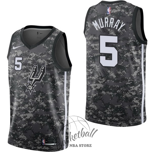 Choisir Maillot NBA Nike San Antonio Spurs NO.5 Dejounte Murray Nike Camouflage Ville