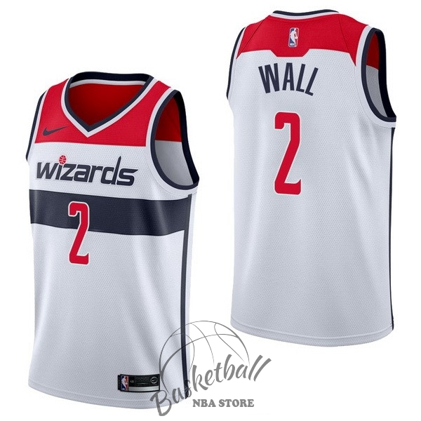 Choisir Maillot NBA Nike Washington Wizards NO.2 John Wall Blanc Association