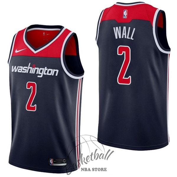 Choisir Maillot NBA Nike Washington Wizards NO.2 John Wall Marine Statement