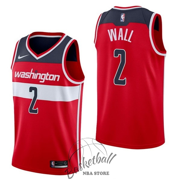 Choisir Maillot NBA Nike Washington Wizards NO.2 John Wall Rouge Icon