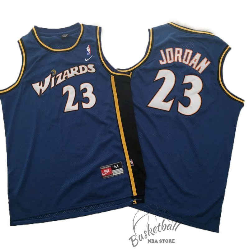 Choisir Maillot NBA Nike Washington Wizards NO.23 Michael Jordan Marine