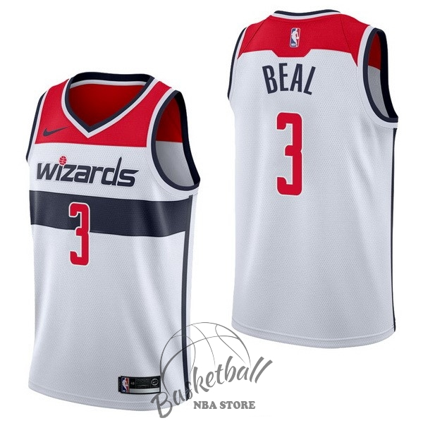 Choisir Maillot NBA Nike Washington Wizards NO.3 Bradley Beal Blanc Association