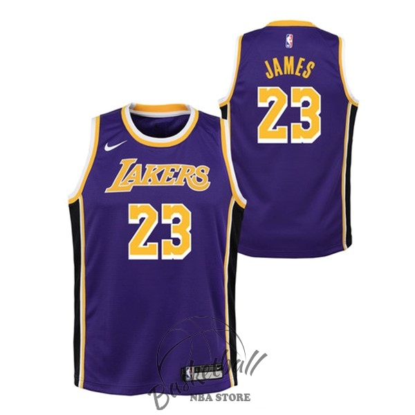 79406eeebe Choisir Maillot NBA Enfant Los Angeles Lakers NO.23 Lebron James Pourpre  Statement 2018-