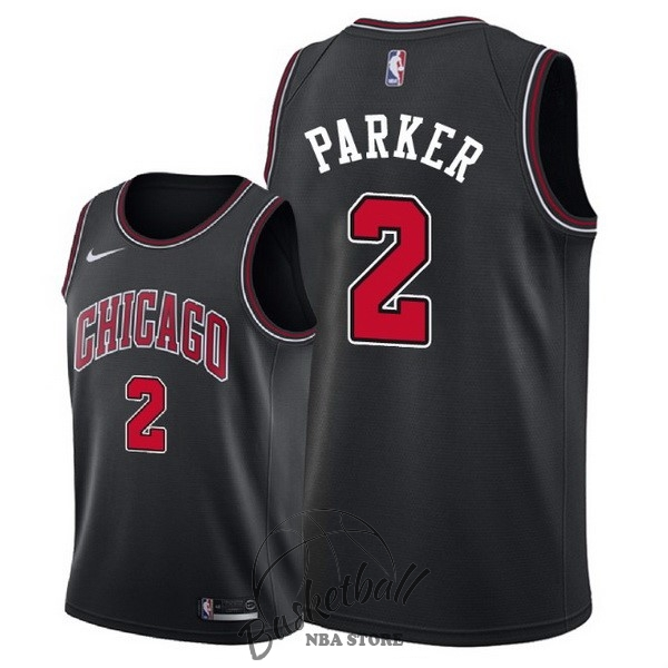 Choisir Maillot NBA Nike Chicago Bulls NO.2 Jabari Parker Noir Statement 2018