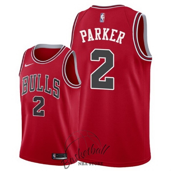 Choisir Maillot NBA Nike Chicago Bulls NO.2 Jabari Parker Rouge Icon 2018
