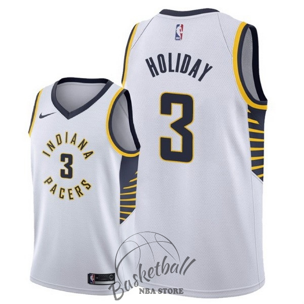 Choisir Maillot NBA Nike Indiana Pacers NO.3 Aaron Holiday Blanc Association 2018