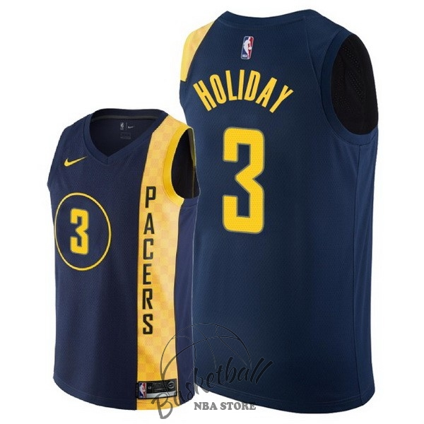 Choisir Maillot NBA Nike Indiana Pacers NO.3 Aaron Holiday Nike Marine Ville 2018