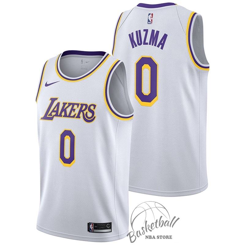 Choisir Maillot NBA Nike Los Angeles Lakers NO.0 Kyle Kuzma Blanc Association 2018-19