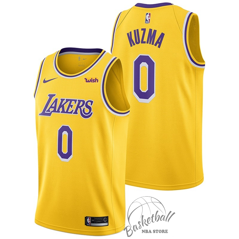 Choisir Maillot NBA Nike Los Angeles Lakers NO.0 Kyle Kuzma Jaune 2018-19