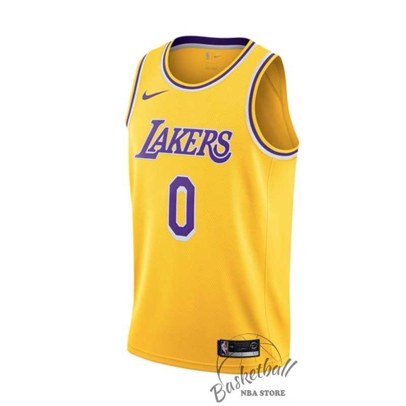 Choisir Maillot NBA Nike Los Angeles Lakers NO.0 Kyle Kuzma Jaune Icon 2018-19