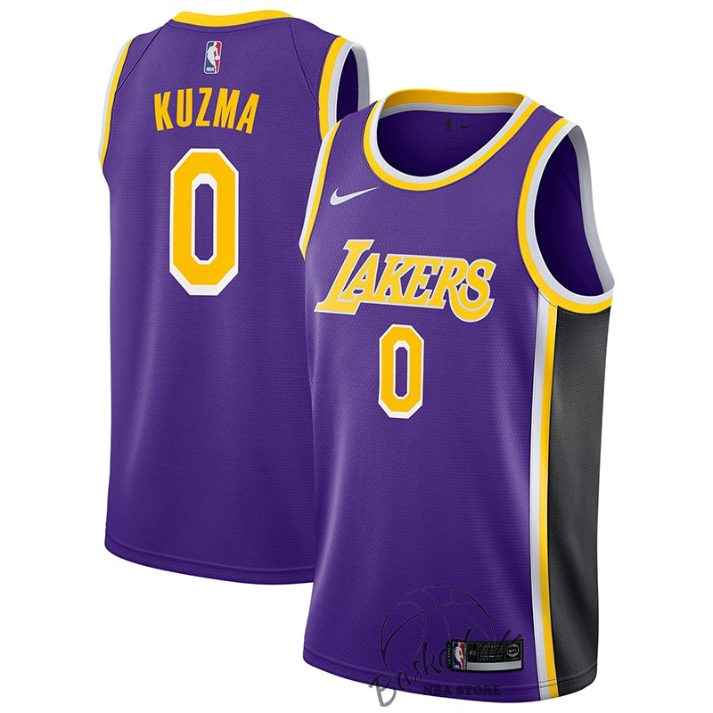 Choisir Maillot NBA Nike Los Angeles Lakers NO.0 Kyle Kuzma Pourpre Statement 2018-19