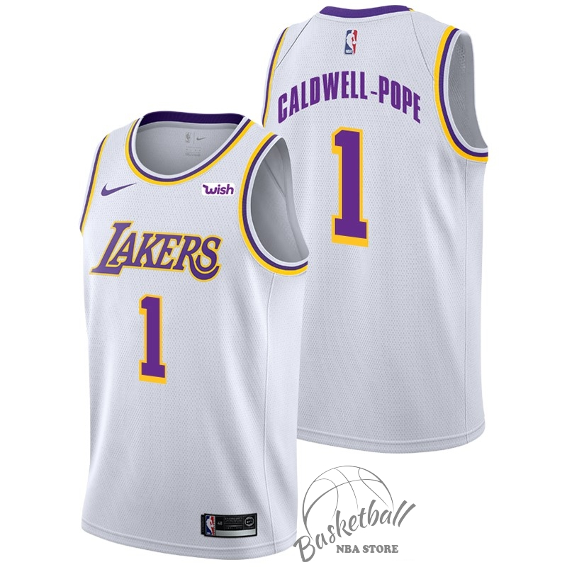 Choisir Maillot NBA Nike Los Angeles Lakers NO.1 Kentavious Caldwell Pope Blanc 2018-19