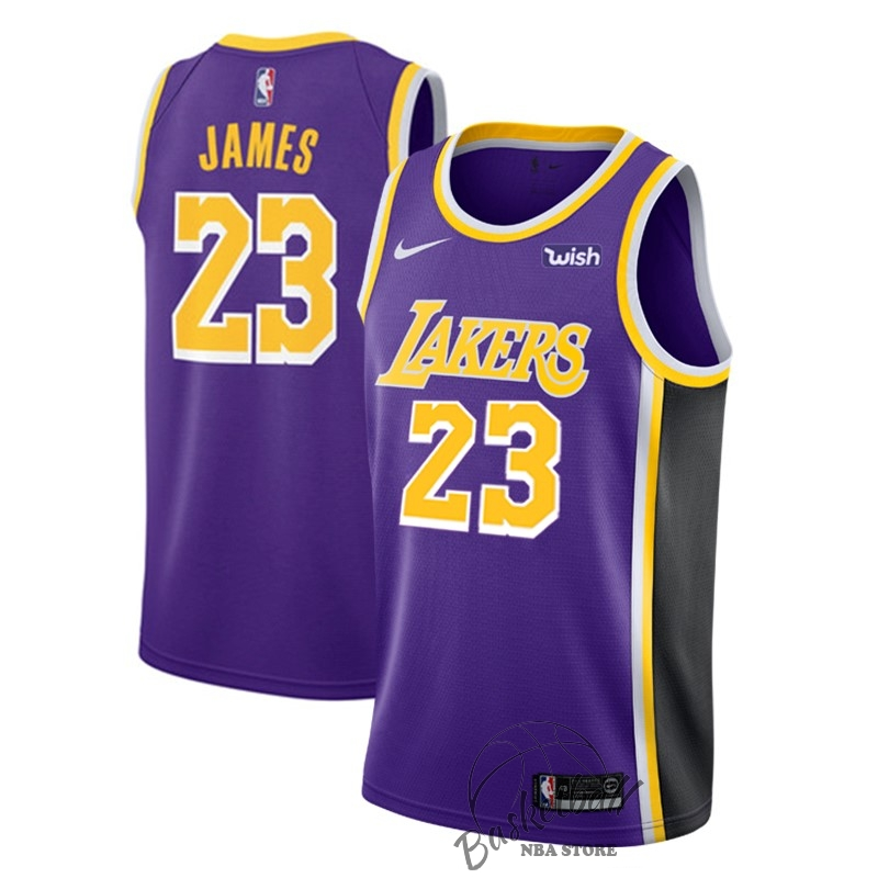 b499a35d19 Choisir Maillot NBA Nike Los Angeles Lakers NO.23 Lebron James Pourpre  2018-19