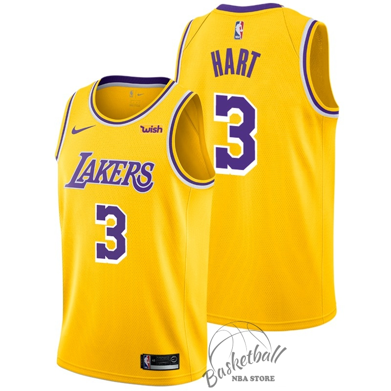Choisir Maillot NBA Nike Los Angeles Lakers NO.3 Josh Hart Jaune 2018-19