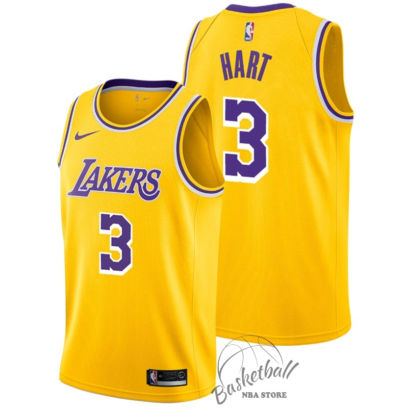 Choisir Maillot NBA Nike Los Angeles Lakers NO.3 Josh Hart Jaune Icon 2018-19