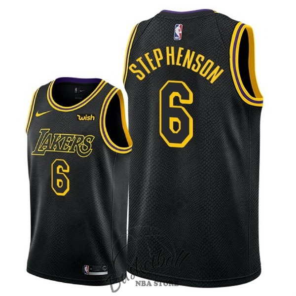 Choisir Maillot NBA Nike Los Angeles Lakers NO.6 Lance Stephenson Noir Ville 2018