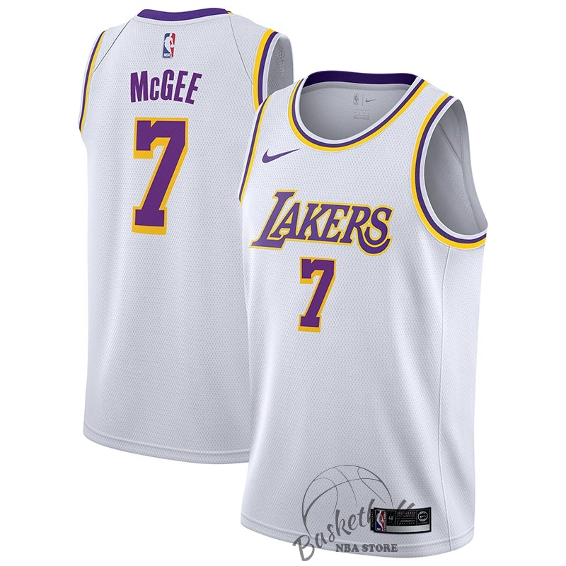Choisir Maillot NBA Nike Los Angeles Lakers NO.7 JaVale McGee Blanc Association 2018-19