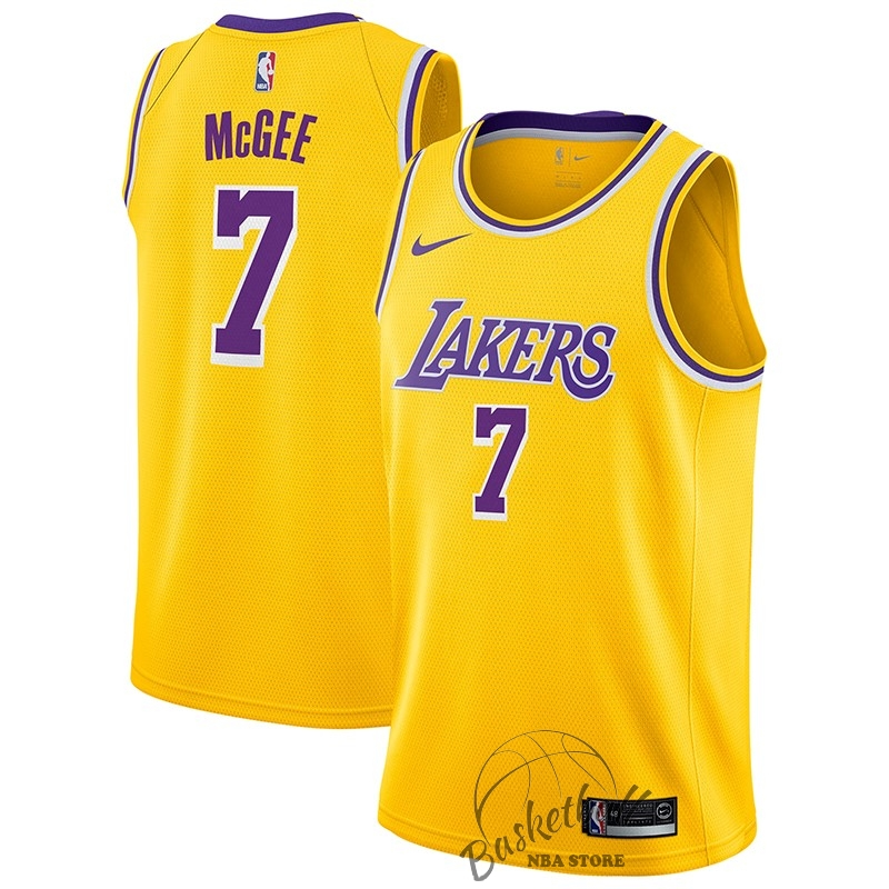 Choisir Maillot NBA Nike Los Angeles Lakers NO.7 JaVale McGee Jaune Icon 2018-19