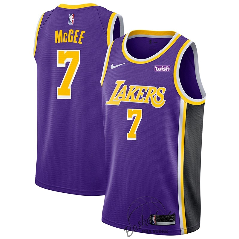Choisir Maillot NBA Nike Los Angeles Lakers NO.7 JaVale McGee Pourpre 2018-19