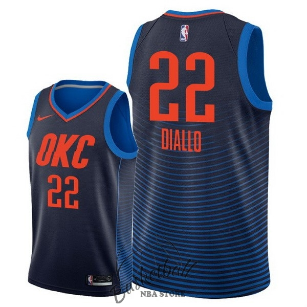 Choisir Maillot NBA Nike Oklahoma City Thunder NO.22 Hamidou Diallo Marine Statement 2018