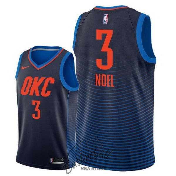 Choisir Maillot NBA Nike Oklahoma City Thunder NO.3 Nerlens Noel Marine Statement 2018