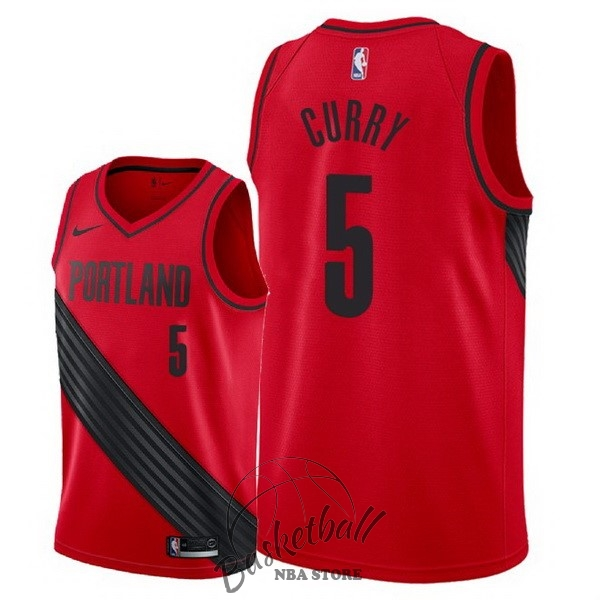 Choisir Maillot NBA Nike Portland Trail Blazers NO.5 Seth Curry Rouge Statement 2018