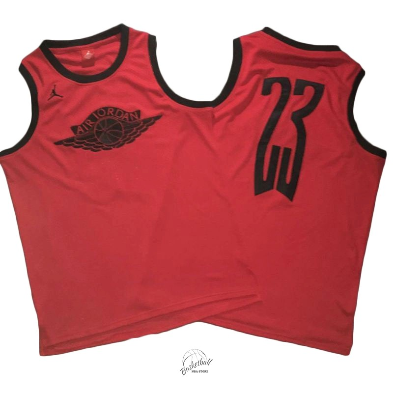 Choisir Maillot NBA Chicago Bulls NO.23 Michael Jordan Flying Wing Logo Rouge