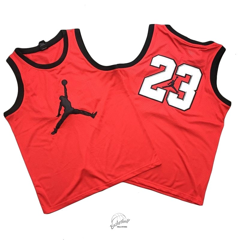 Choisir Maillot NBA Chicago Bulls NO.23 Michael Jordan Jordan Logo Rouge