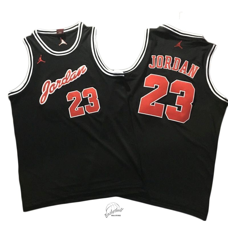 Choisir Maillot NBA Chicago Bulls NO.23 Michael Jordan Noir Rouge Blanc