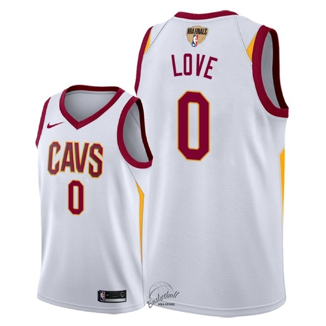 Choisir Maillot NBA Cleveland Cavaliers 2018 Final Champions NO.0 Kevin Love Blanc Association Patch