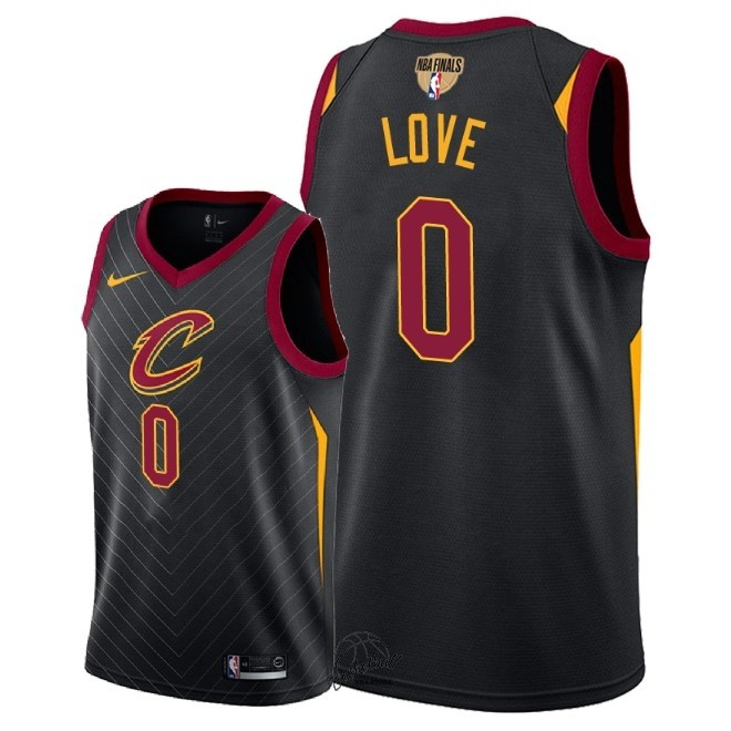 Choisir Maillot NBA Cleveland Cavaliers 2018 Final Champions NO.0 Kevin Love Noir Statement Patch