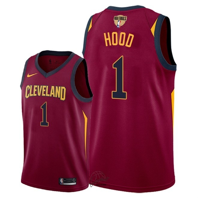 Choisir Maillot NBA Cleveland Cavaliers 2018 Final Champions NO.1 Rodney Hood Rouge Icon Patch