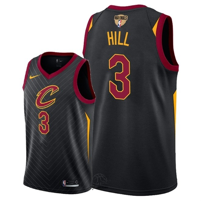 Choisir Maillot NBA Cleveland Cavaliers 2018 Final Champions NO.3 George Hill Noir Statement Patch