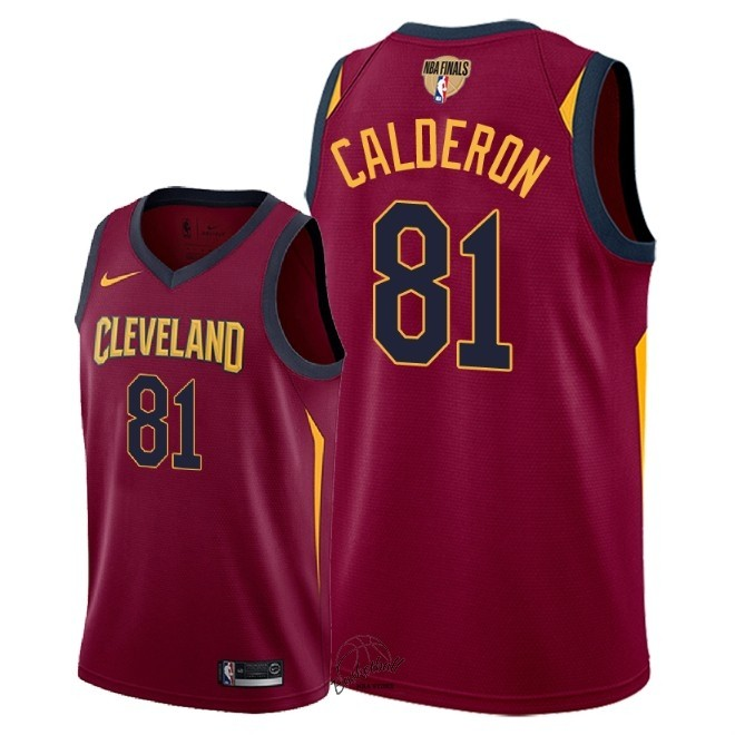 Choisir Maillot NBA Cleveland Cavaliers 2018 Final Champions NO.81 Jose Calderon Rouge Icon Patch