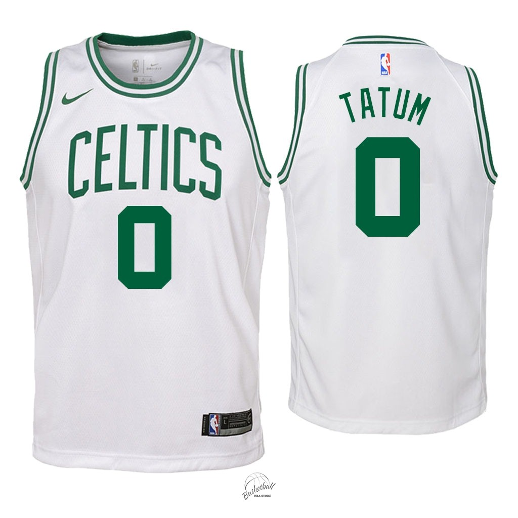 Choisir Maillot NBA Enfant Boston Celtics NO.0 Jayson Tatum Blanc Association 2018