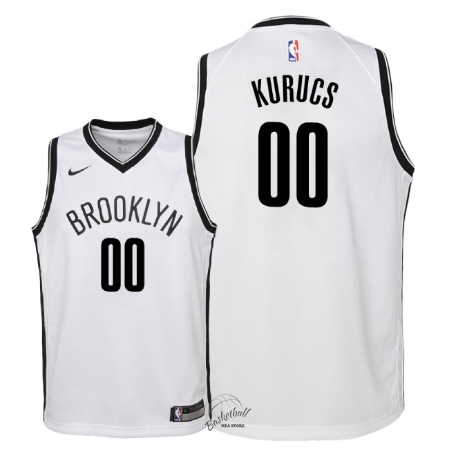 Choisir Maillot NBA Enfant Brooklyn Nets NO.0 Rodions Kurucs Blanc Association 2018