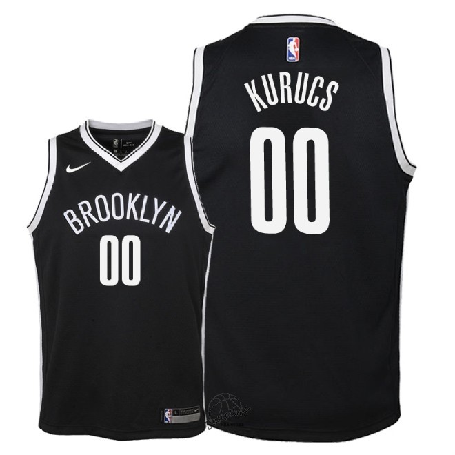 Choisir Maillot NBA Enfant Brooklyn Nets NO.0 Rodions Kurucs Noir Icon 2018