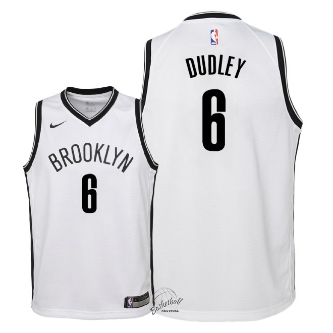 Choisir Maillot NBA Enfant Brooklyn Nets NO.6 Jared Dudley Blanc Association 2018