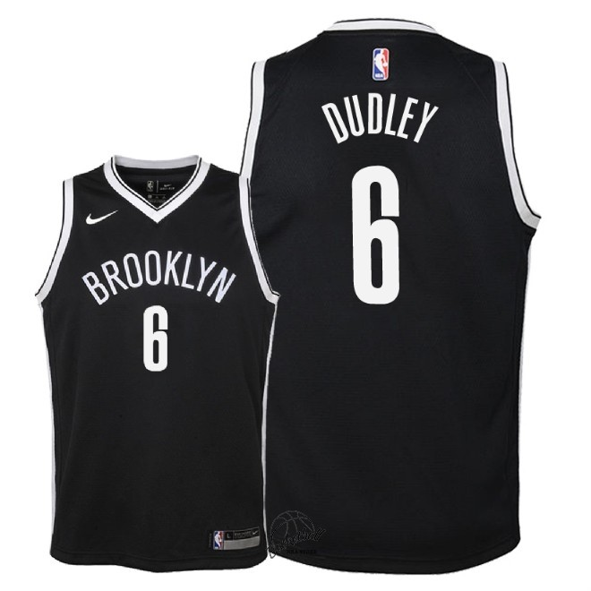 Choisir Maillot NBA Enfant Brooklyn Nets NO.6 Jared Dudley Noir Icon 2018